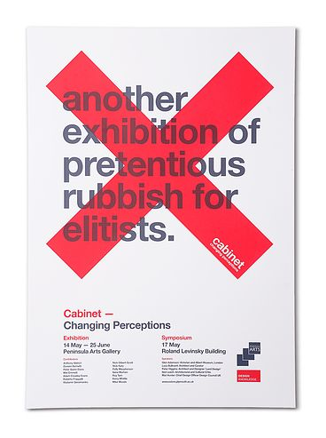 cabinetdevised to challenge mainstream perceptions of museums and art galleries cabinet was an exhibition of works by 12 architects and designers who were - Poster Designs Ideas