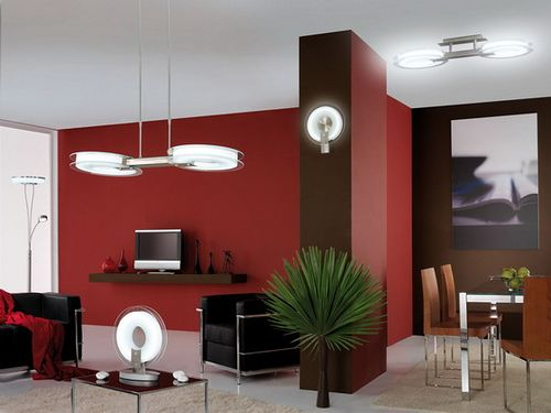 Brown AND Red walls with black furniture... for my livingroom =) - 105 Best Images About Living Room /Red Accents♥ On Pinterest