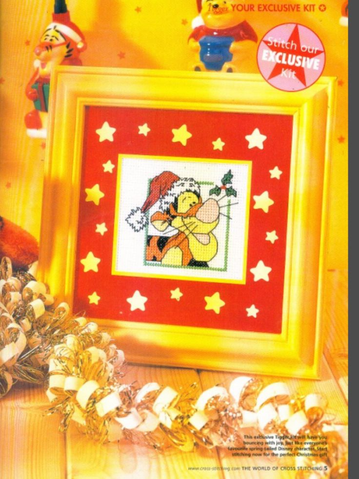 Winnie the Pooh Have a Tiggerific Christmas The World of Cross Stitching Issue 79 December 2003 Saved