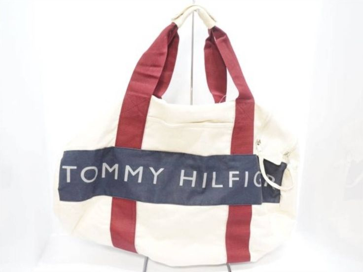 Excited to share the latest addition to my #etsy shop: 90s Tommy Hilfiger Duffel Bag Beige Red Tommy Hilfiger Luggage Bag Tommy Hilfiger Travel Bag