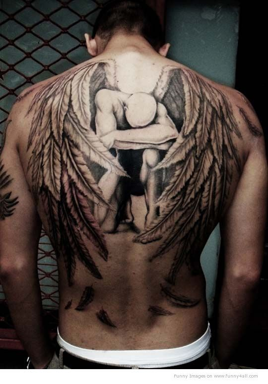Angel Tattoo - I love this tattoo!!! It's huge and is never get one that big but I love it!!!