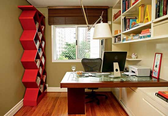 Best 10 Casual Home Office Design | Bookcase | Pinterest