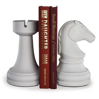 Shop for Danya B Chess Rook vs Knight Bookend Set - White. Free Shipping on orders over $45 at Overstock.com - Your Online Home Decor Outlet Store! Get 5% in rewards with Club O!