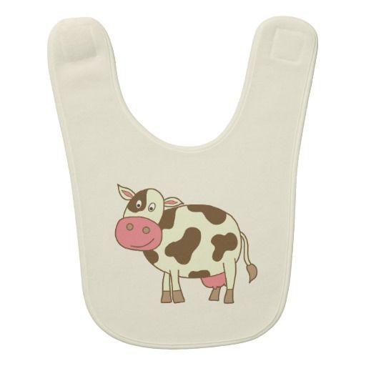 Brown Cow Baby Bibs