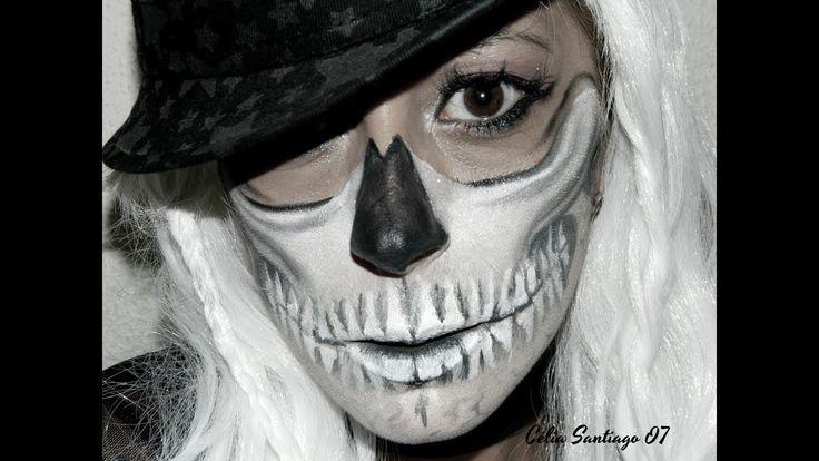 Halloween - Tutorial Skull Girl 2017 | Célia Santiago