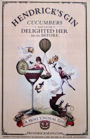 love the vintage aesthetic of these hendrick's gin adverts ...