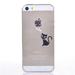 Iphone 5/iPhone 5S - Achterkantje -Effen Kleur/Cartoon/Speciaal Design/Transparant/Noviteit/Anime/Ultra Slim/Zoet/Dier/Mooi Meisje/Cool Word /