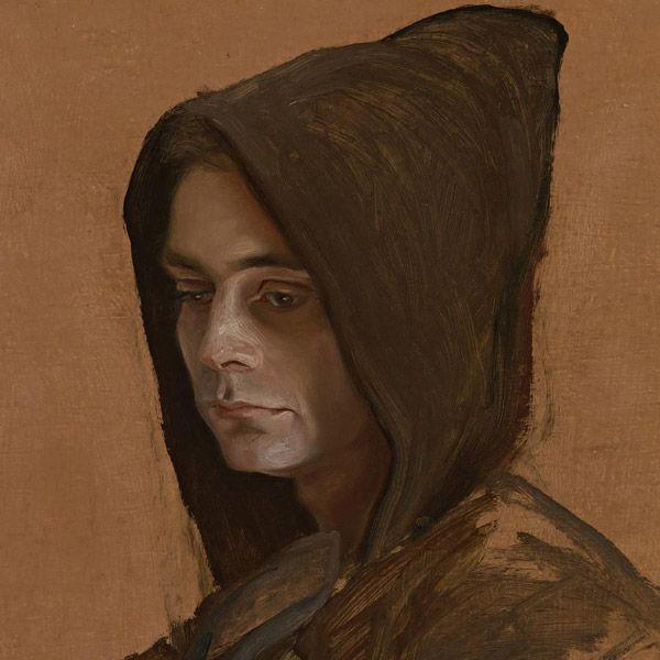 Joven monje (Carlos Berges) [detalle, 1963] Óleo sobre tablero 70,8 x 62,5 cm.  ClaudioBravo.com #CladioBravoCamus #CladioBravo