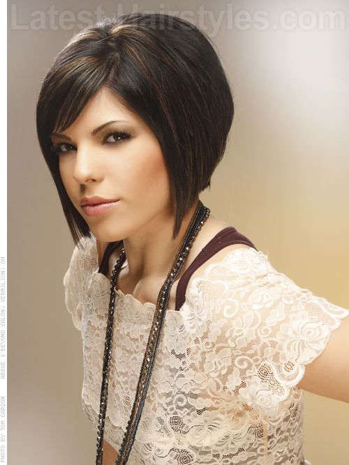 Line Bob Smooth Face Framing Look Tapered FrontHair Colors, Bobs ...