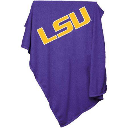 Logo Chair Ncaa LSU Sweatshirt Blanket, Purple