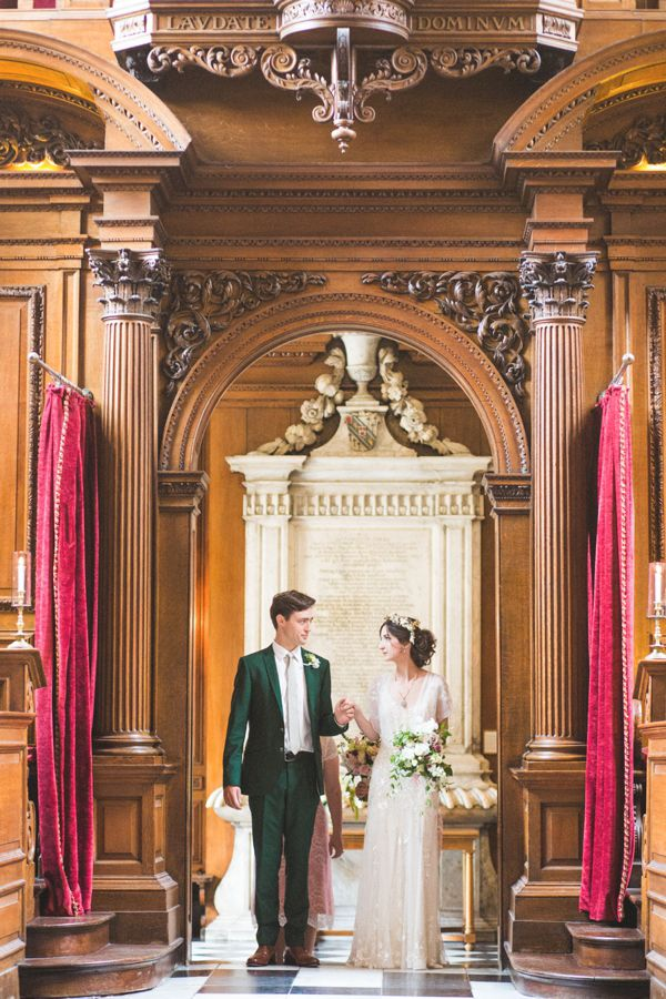 Azalea by Jenny Packham and a Delicate Floral Crown for a Bohemian Meets Edwardian Style Wedding At Emmanuel College, Cambridge   Love My Dress® UK Wedding Blog