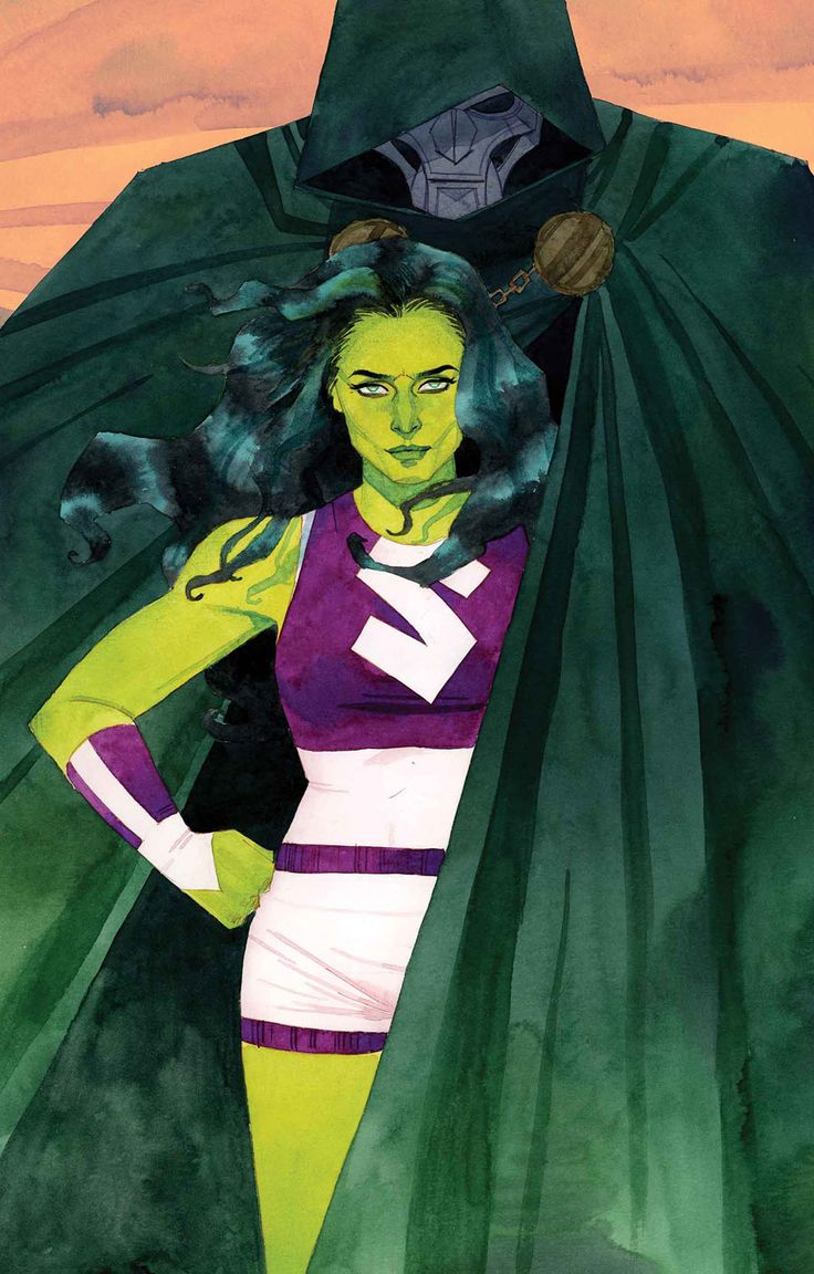She-Hulk and Dr. Doom by Kevin Wada
