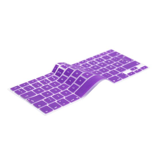 English Purple Keyboard Cover Prolongs the life of your MacBook. Protects your keyboard against dirt, liquids, dust etc. The thinnest and most precise keyboard protection cover.