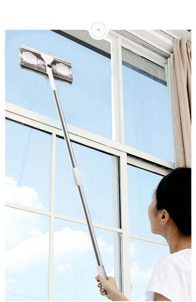Details About Long Handle Cleaning Brush Window Cleaner Glass