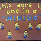 Want a fun way to display your students' work? This cute minion bulletin board will be a wonderful addition to your classroom. Includes: -Words th...