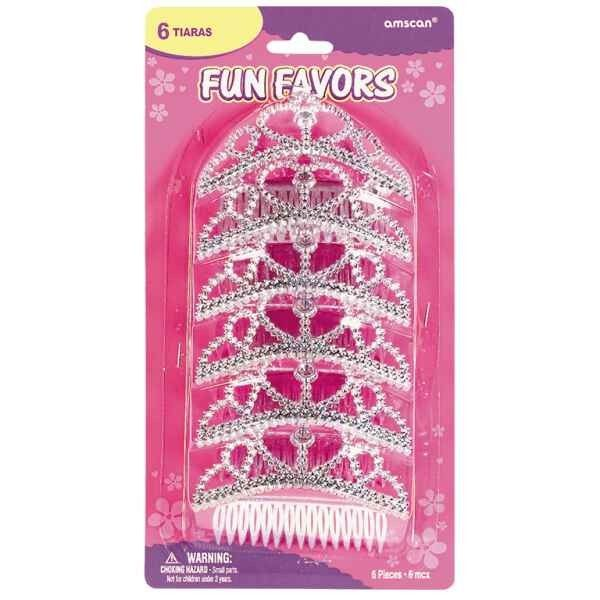 Princess Tiara Hair Comb Fun Favors | 6ct for $5.27 in Princess - Party Themes