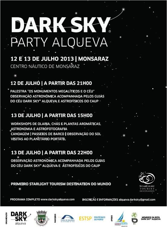 Dark Sky Party Alqueva @ Reserva Dark Sky® Alqueva
