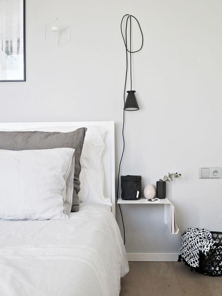 white scandi bedroom