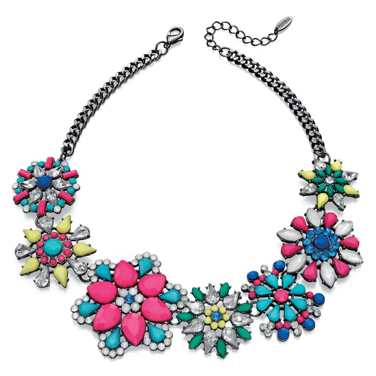 Fiorelli Costume Statement Flower Necklace 40-45cm - Make a statement with this designer necklace by the renowned and high fashion Fiorelli brand, is beautifully produced with white or yellow alloy and preciosa: http://ow.ly/XA0AP