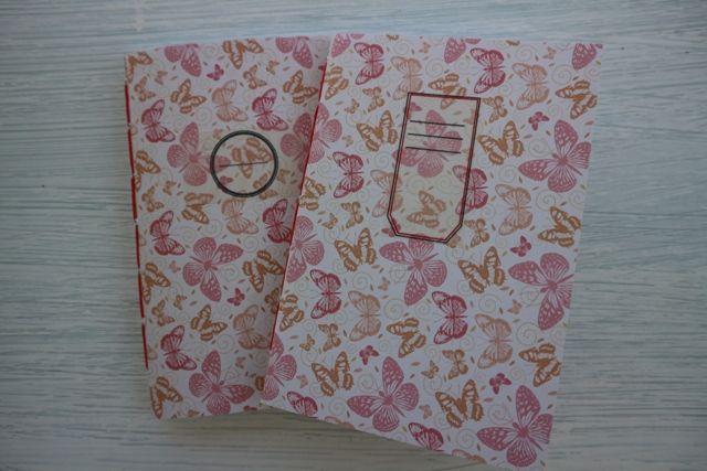 Little notebook with lines,handmade. Σημειωματάριο με γραμμές, δεμένο στο χέρι
