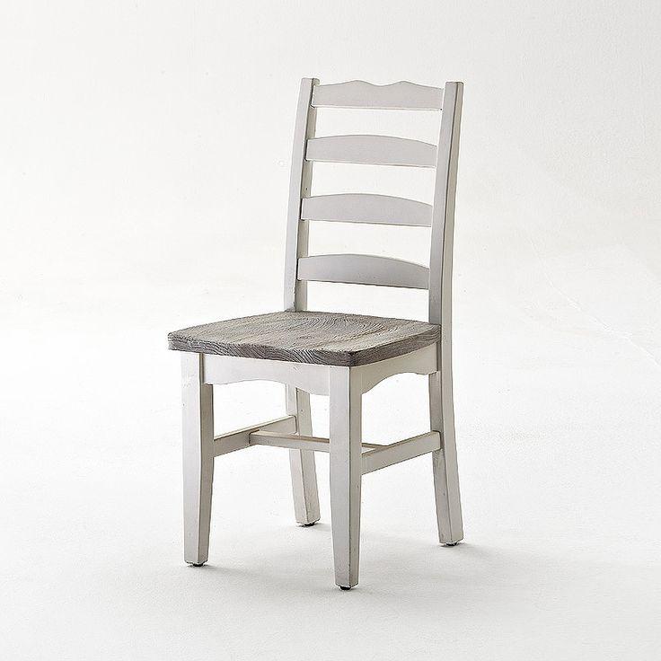 Stuhl 2er-Set »OPUS« Recycle-Kiefer weiß - sandweiß Jetzt bestellen unter: https://moebel.ladendirekt.de/kueche-und-esszimmer/stuehle-und-hocker/holzstuehle/?uid=409b7167-eefb-5f59-866a-5cb24a8b790e&utm_source=pinterest&utm_medium=pin&utm_campaign=boards #stühle #kueche #sitzbänke #massivholzbänke #massivholz #holzstuehle #esszimmer #massivholzstühle #massivholzmöbel #hocker #stuehle