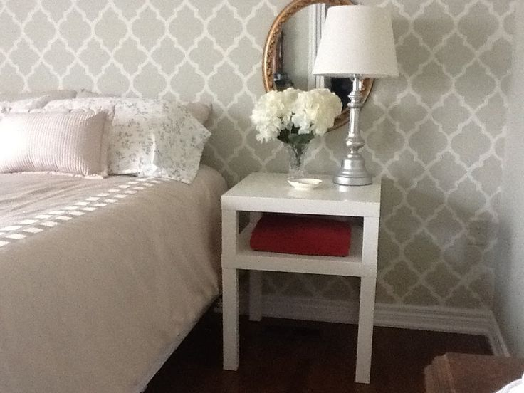 LACK Side Table – Night Table - IKEA Hackers - I'd like to combine this with the other Lack hack to create multiple coffee tables to push together to create one large coffee table.