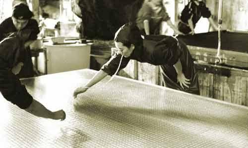 making washi paper