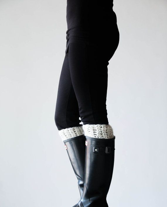 Great Etsy shop for handmade boot warmers that pop out the tops of your boots. Love this look!