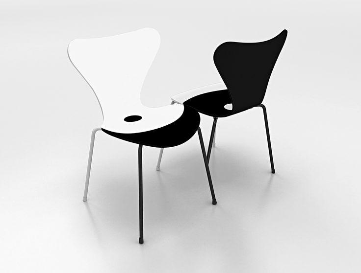 7 Cool Architects ǁ Designer: Jean Nouvel Design ǁ Fritz Hansen Series 7™ chair (3107) by Arne Jacobsen
