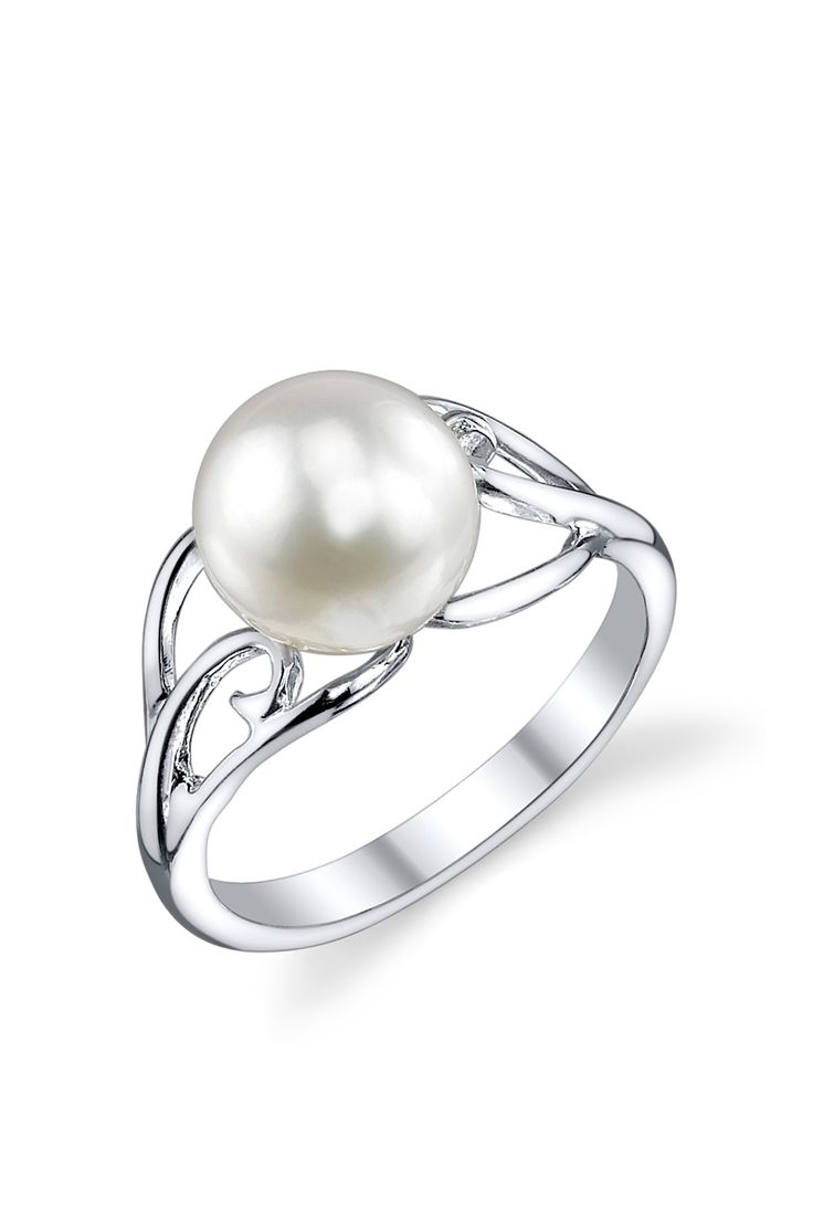 Flawless Finds: Sterling Silver 8mm White Freshwater Cultured Pearl Cutout  Ring