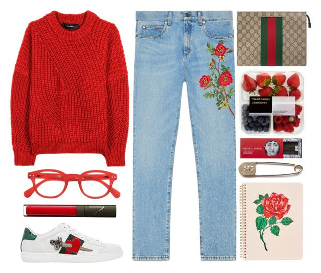 """""""Sem título #1092"""" by andreiasilva07 ❤ liked on Polyvore featuring Gucci, Isabel Marant, See Concept, ban.do, NARS Cosmetics and Fornasetti"""