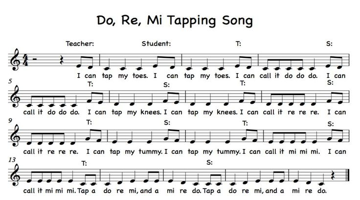 tap a do re mi, teacher - student echo use body solfege