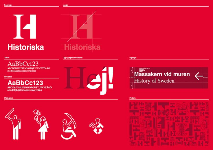Brand Identity for the Swedish History Museum designed by Bold