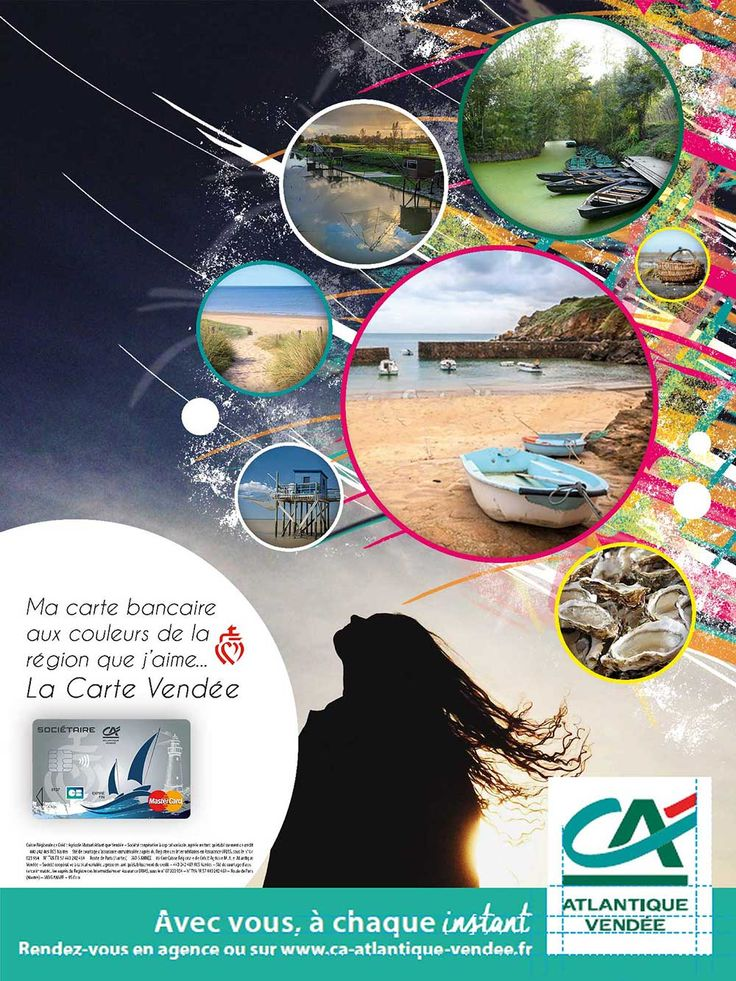 Proposition affiche graphique Carte Vendée Crédit Agricole Atlantique Vendée