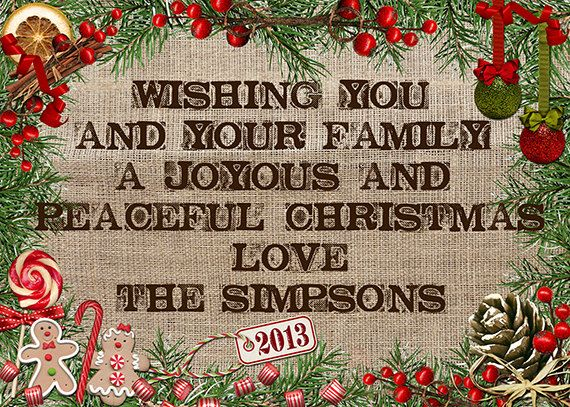Christmas Card digital personalised & by MKLiveLaughLoveShop, $5.00