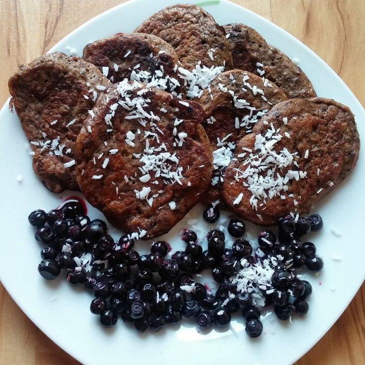 Bezglutenowe pancakes - placuszki kakaowe