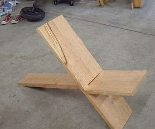Plank Chair. Simple and Sleek. Perfect till I can afford that expensive outdoor sectional.
