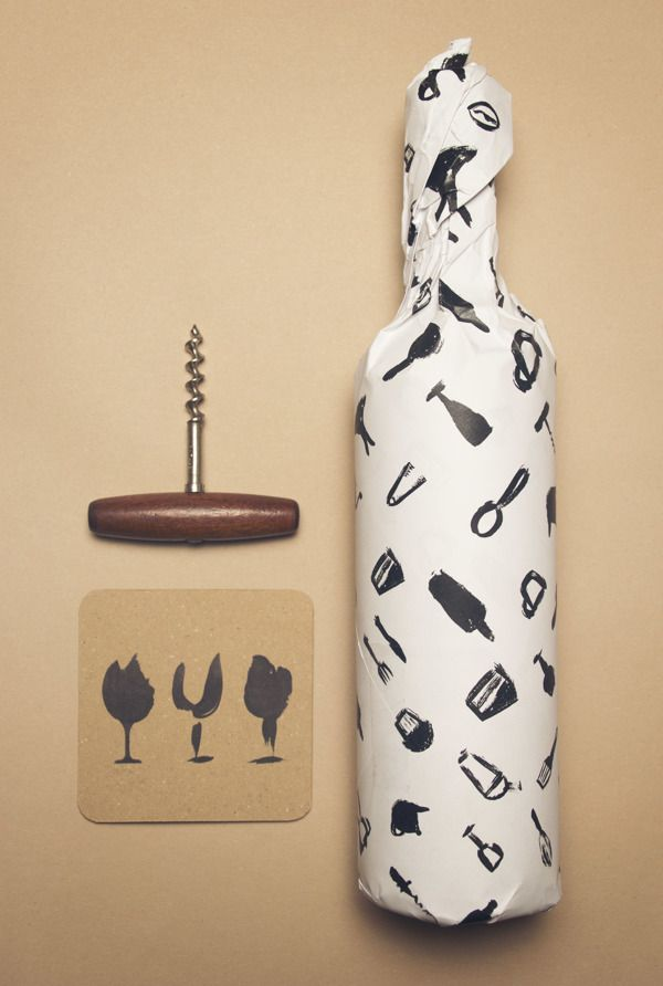 Drink Better Wine by Charlotte Fosdike, via Behance