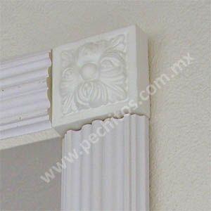 Las 25 mejores ideas sobre molduras decorativas en pinterest columnas molduras de corona de - Molduras para paredes interiores ...