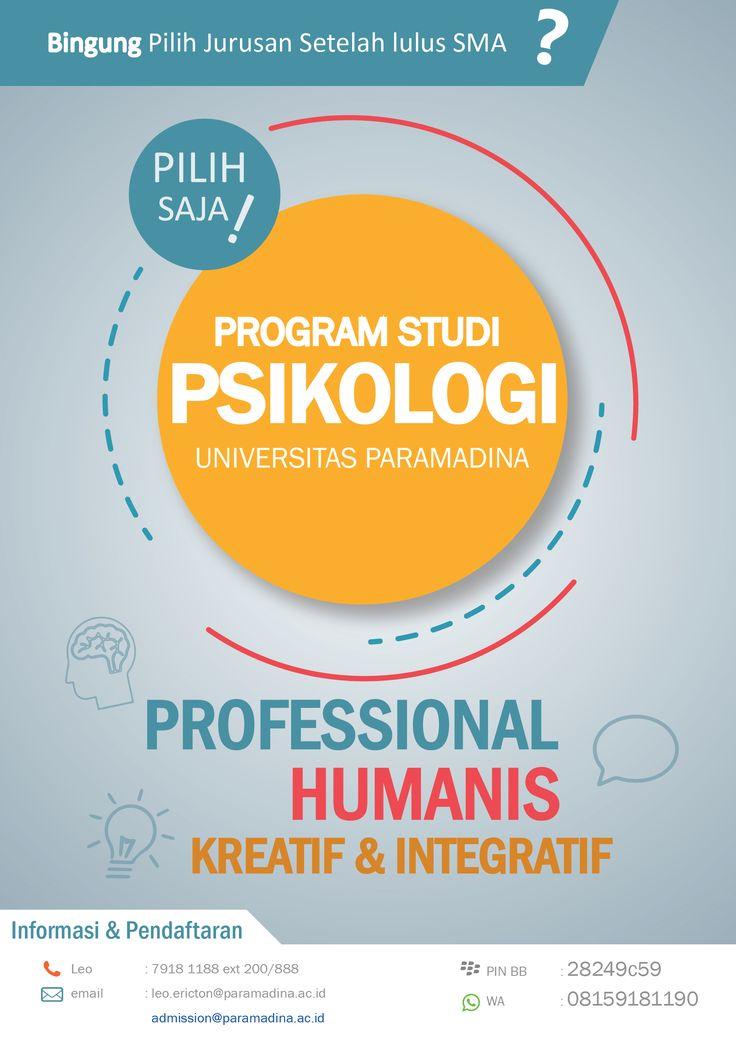 flyer untuk prodi psikologi