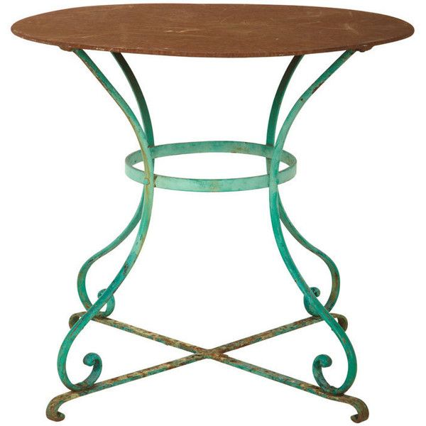 antique round garden table liked on polyvore featuring home outdoors patio furniture