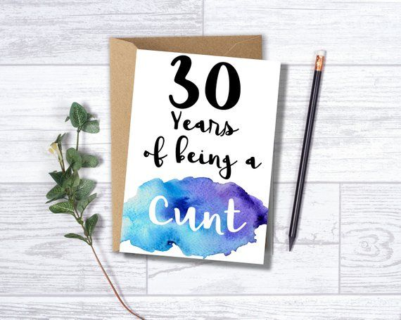Funny 30th Birthday Card For Him