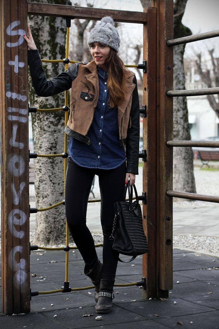 #fashion #fashionista Irene leggings neri in pelle