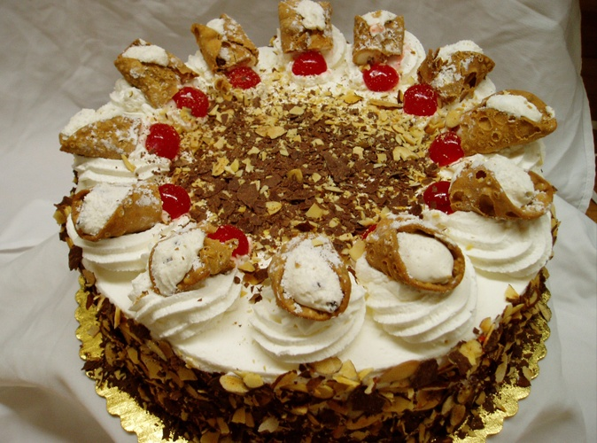 Birthday Cake With Cannoli Filling
