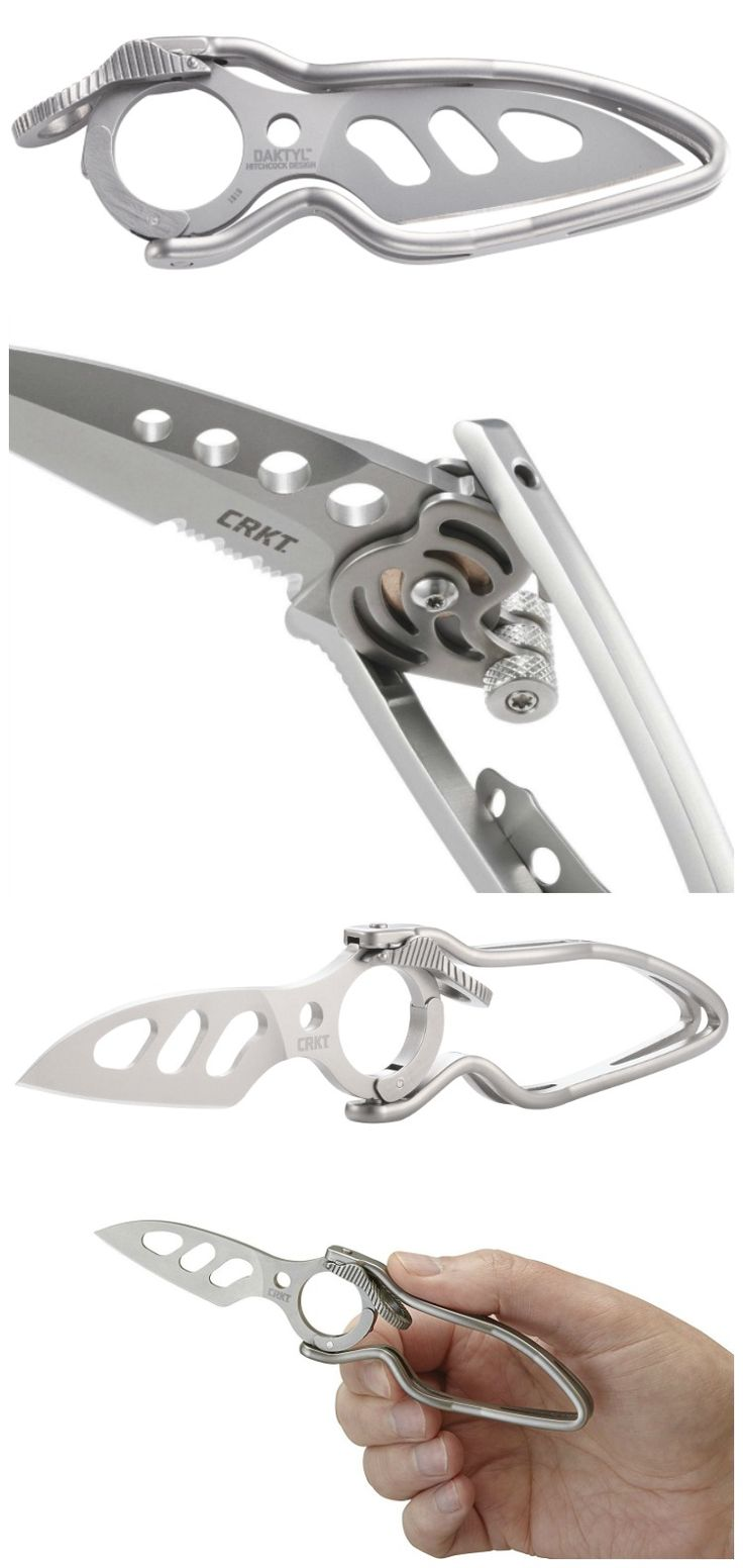 The Daktyl non-traditional pocket knife is seriously bare bones; we're talking phalanges here. Set it in motion with one quick action and watch the jaws drop. #affiliate