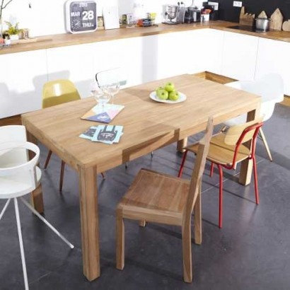 Coffee Tek Teak Dining Table 160x80. Tikamoon furniture at tikamoon.co.uk !