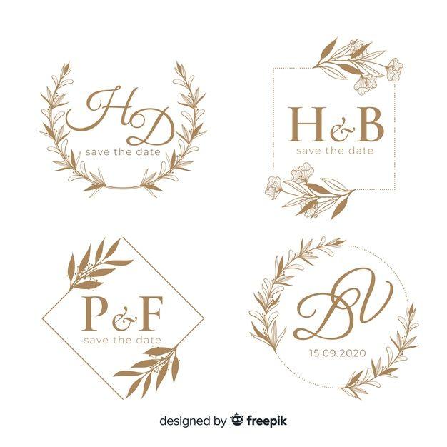 Download Wedding Hand Drawn Floral Logo Template For Free Floral Logo Free Logo Templates Wedding Logos