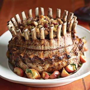 Crown Roast of Pork with Apple, Cranberry and Pecan Stuffing