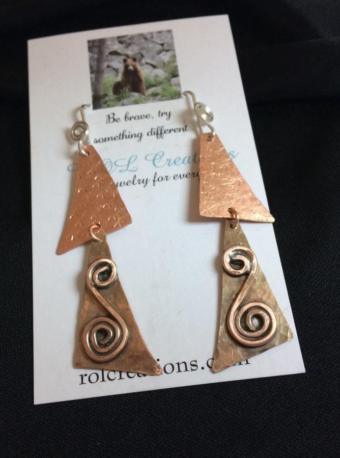 Copper Earrings by cindymarie