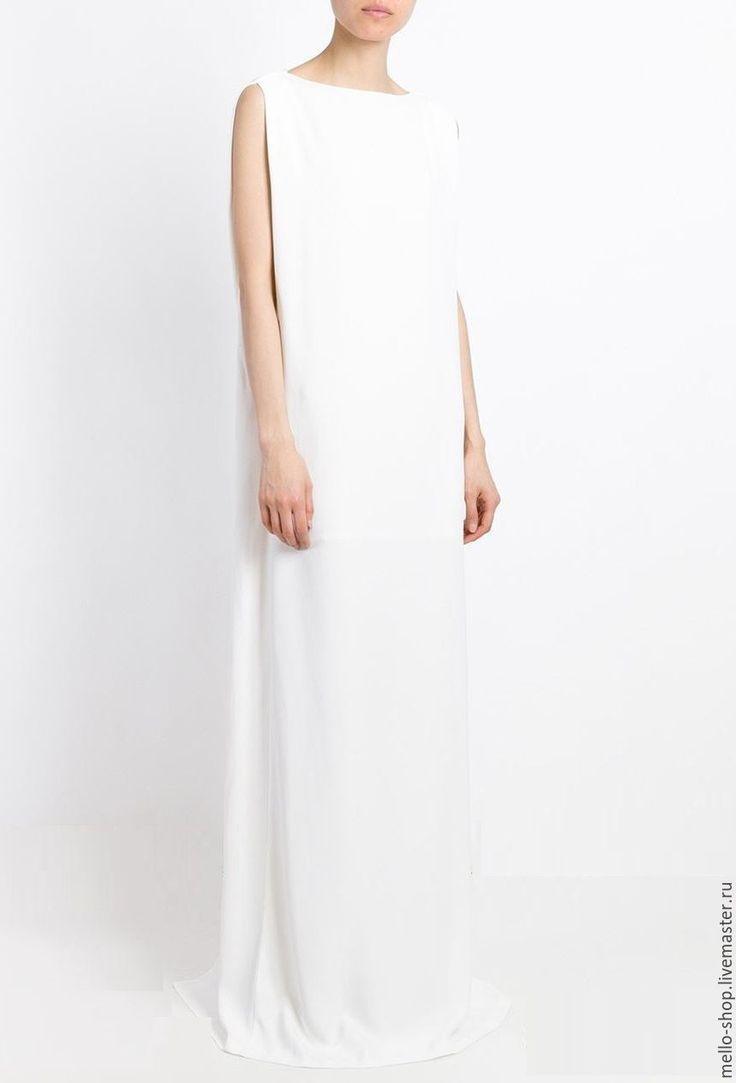 Купить или заказать Платье на свадьбу, свадебное платье, белое платье в пол, платье макси в интернет-магазине на Ярмарке Мастеров. Длинное свадебное платье из крепа белого цвета – это платье воплощение изящества, простоты образа и элегантности. Состав: 97% полиэстер, 3% эластан. Платье можно заказать в другом цвете и, по желанию, изменить детали кроя. 100% ВОЗВРАТ ДЕНЕГ, если платье не подошло. У нас БЕСПЛАТНАЯ доставка по России! Просто добавьте нас в свой круг. Ещё больше наших платьев на…
